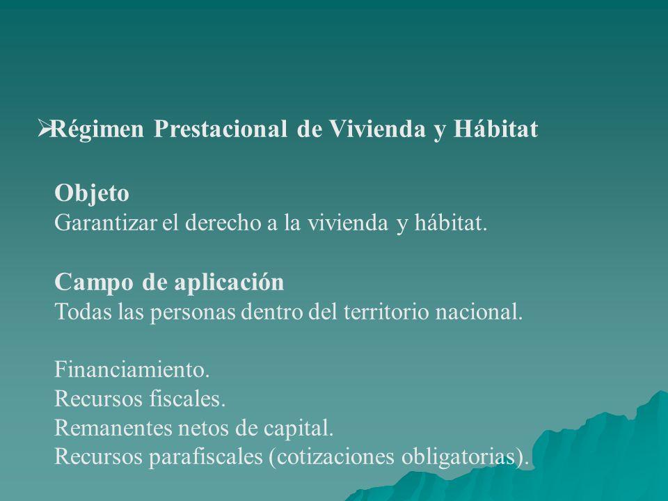 Régimen Prestacional de Vivienda y Hábitat
