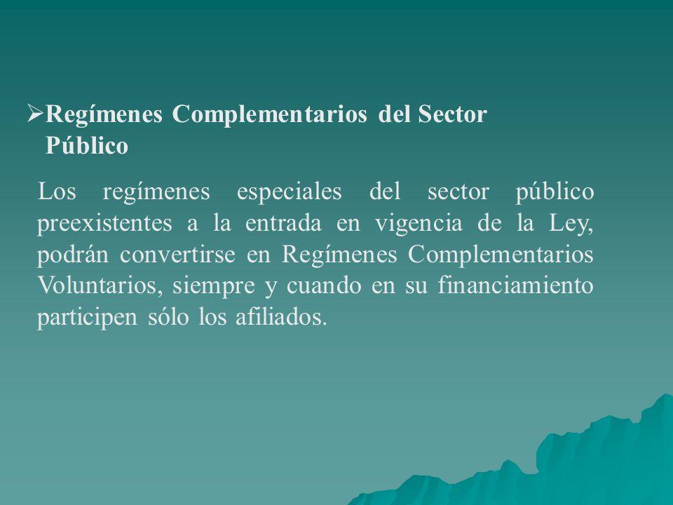 Regímenes Complementarios del Sector Público
