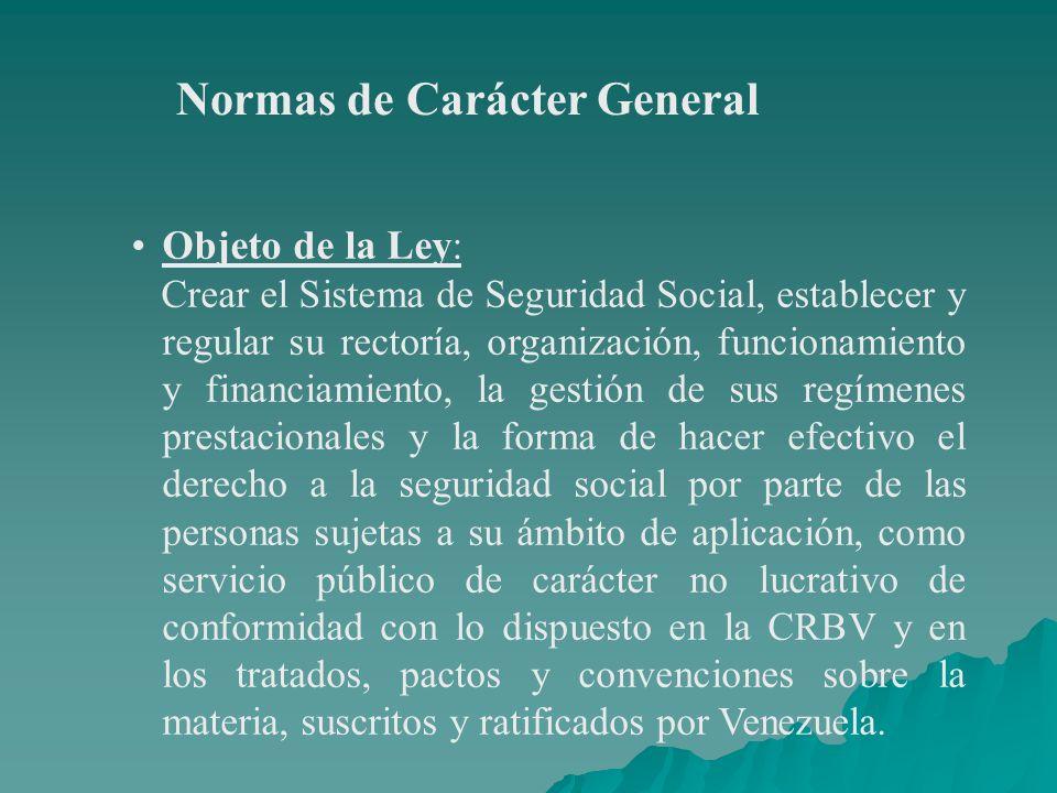 Normas de Carácter General