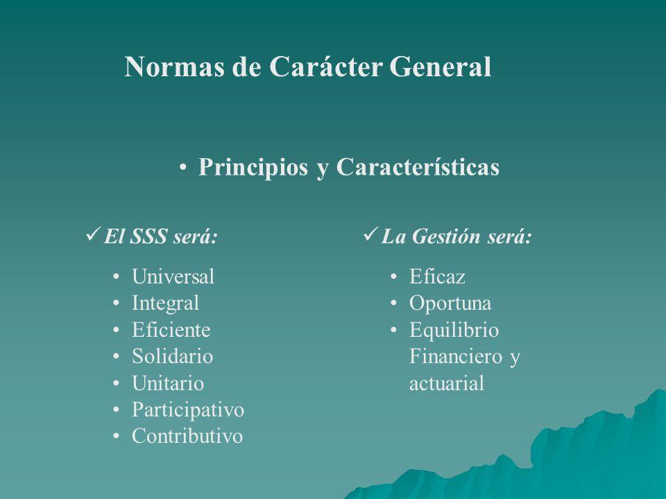 Normas de Carácter General Principios y Características