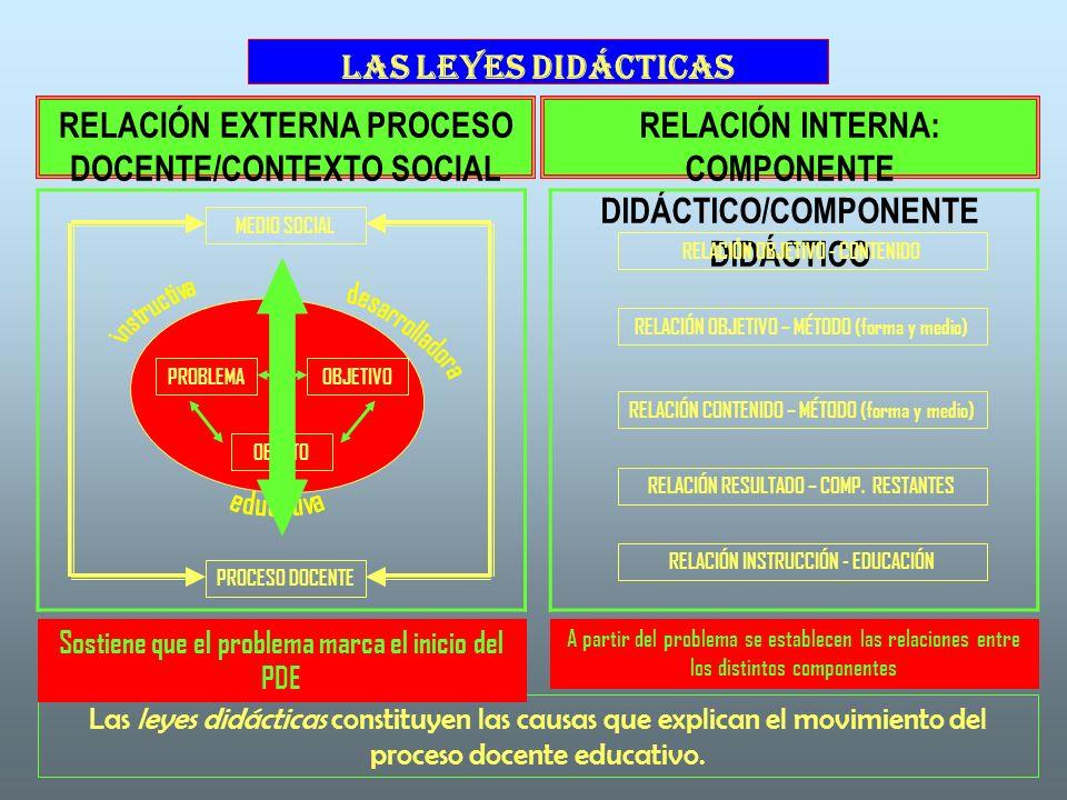 instructiva desarrolladora educativa LAS LEYES DIDÁCTICAS