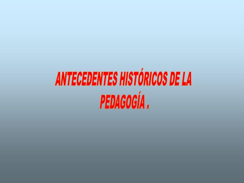 ANTECEDENTES HISTÓRICOS DE LA