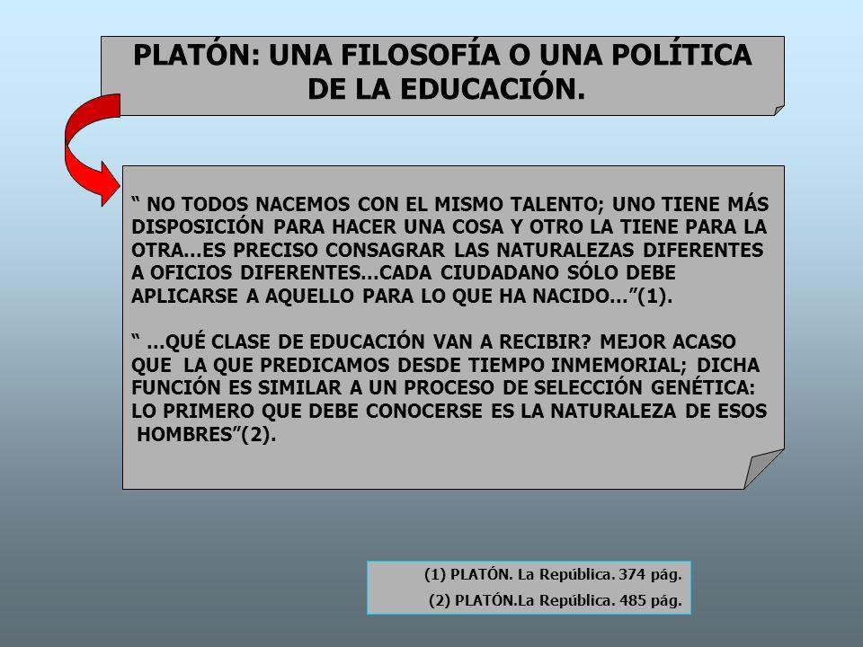 PLATÓN: UNA FILOSOFÍA O UNA POLÍTICA