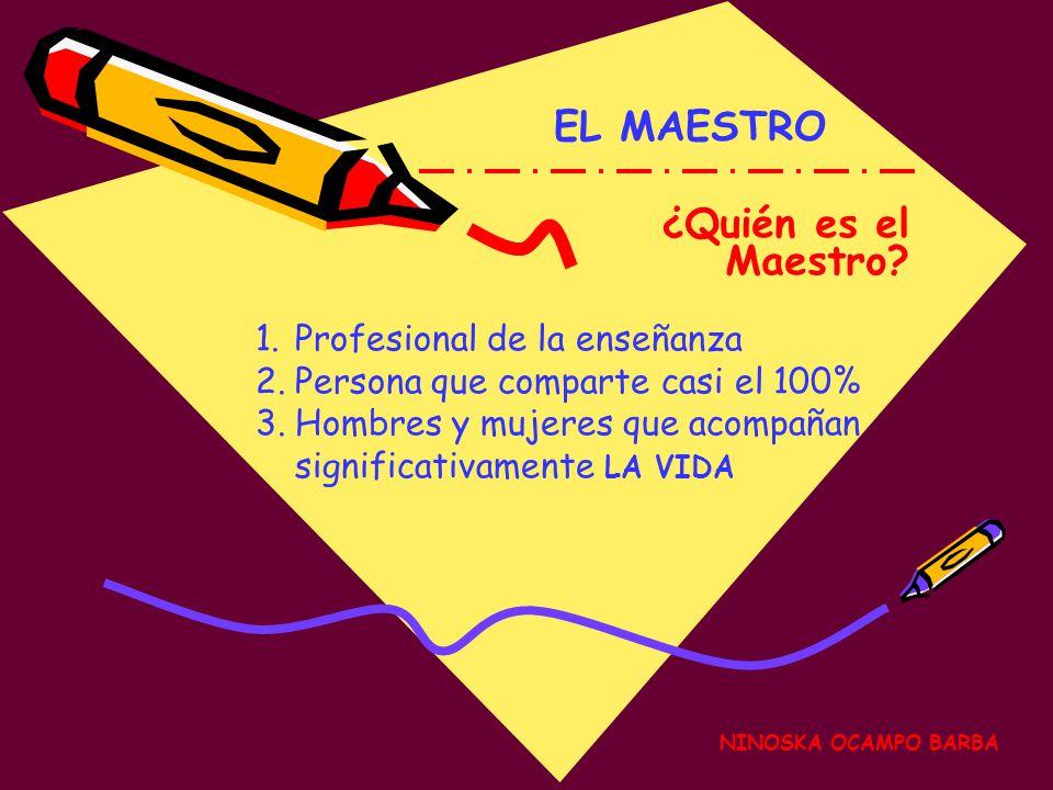 EL MAESTRO ¿Quién es el Maestro Profesional de la enseñanza
