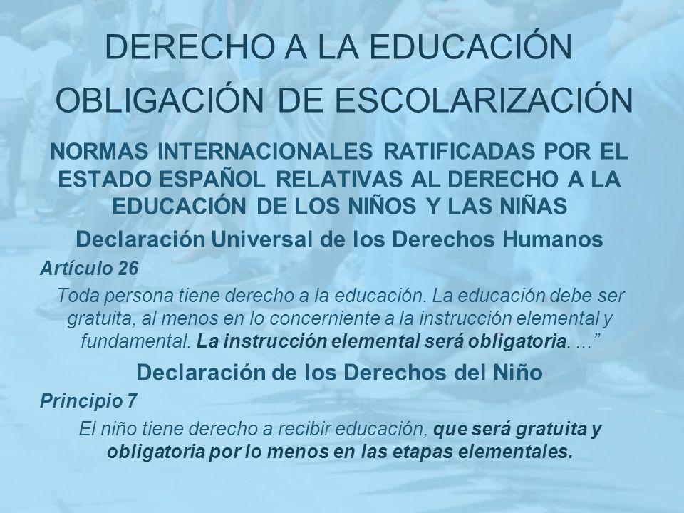 OBLIGACIÓN DE ESCOLARIZACIÓN