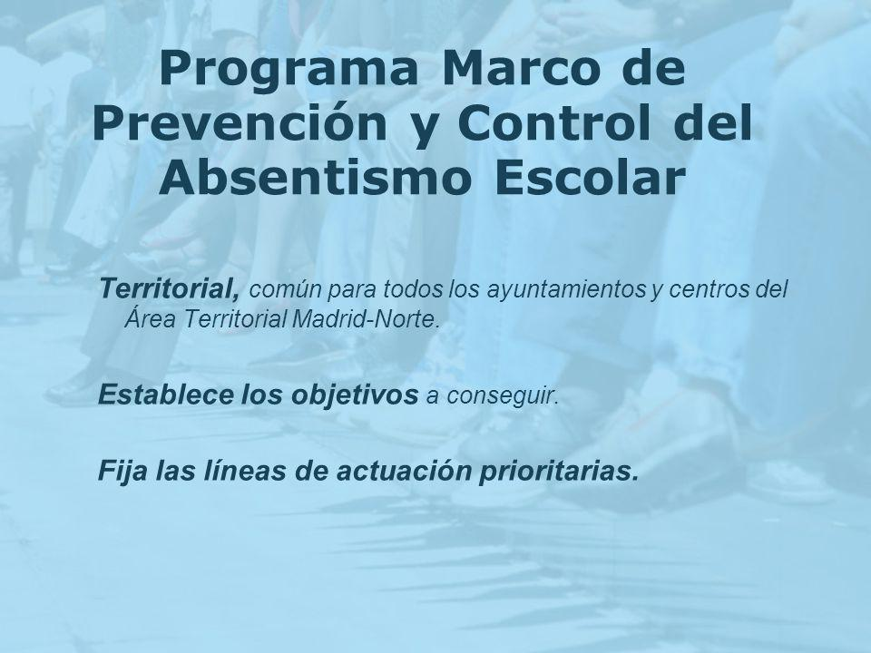 Programa Marco de Prevención y Control del Absentismo Escolar