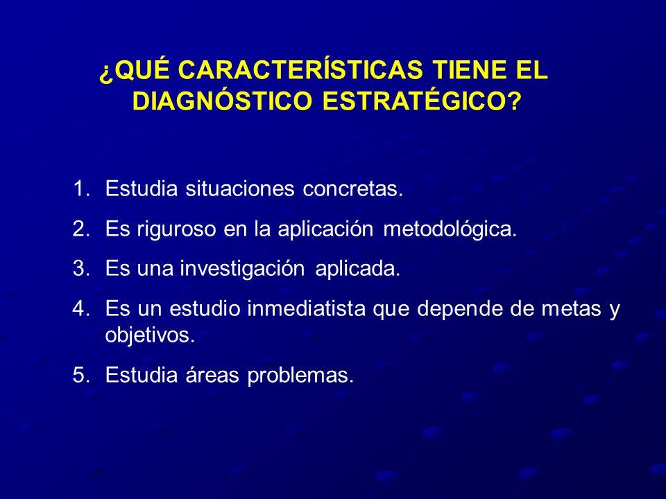 ¿QUÉ CARACTERÍSTICAS TIENE EL DIAGNÓSTICO ESTRATÉGICO