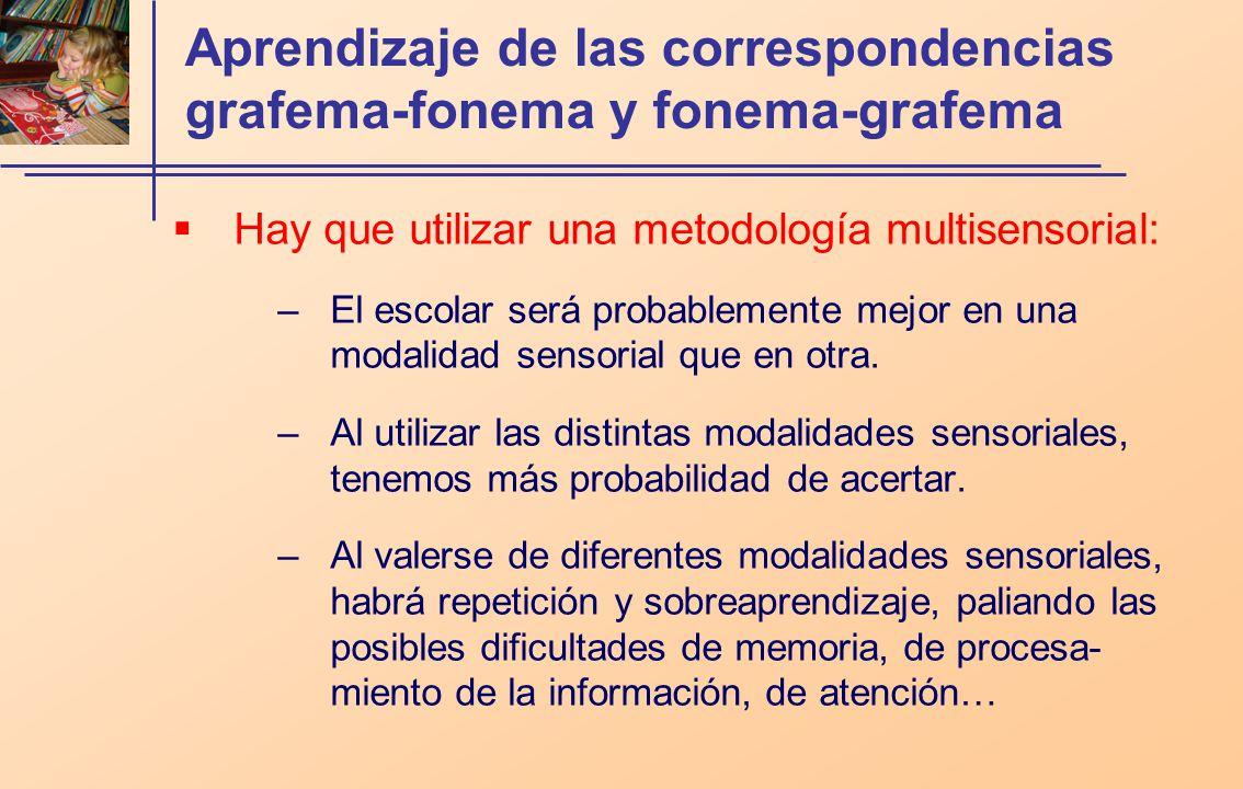 Aprendizaje de las correspondencias grafema-fonema y fonema-grafema