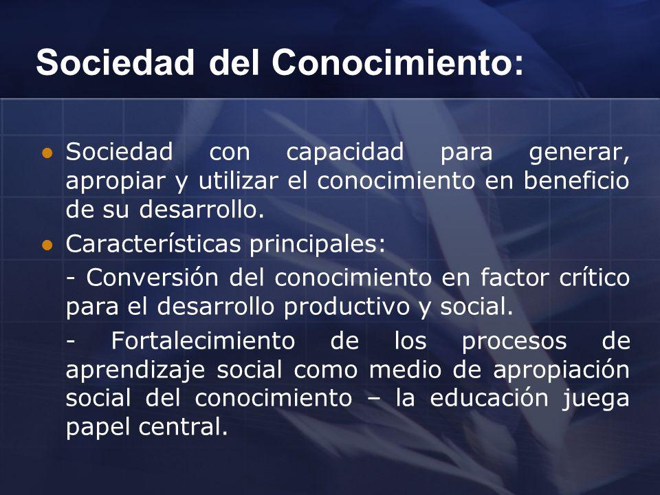 Sociedad del Conocimiento: