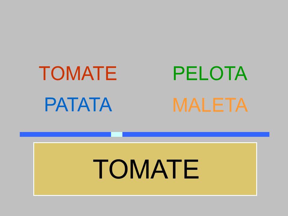 TOMATE PELOTA PATATA MALETA TOMATE