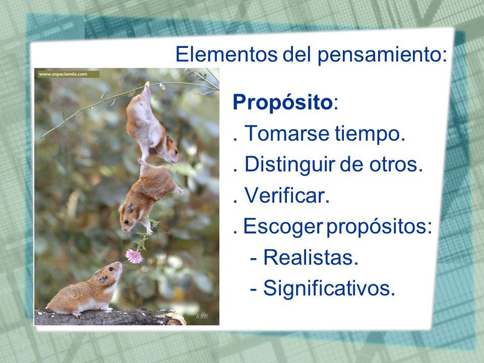 Elementos del pensamiento: