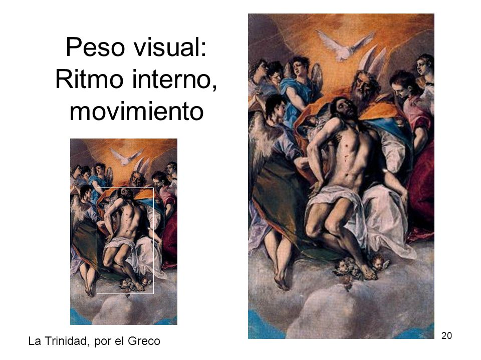 Peso visual: Ritmo interno, movimiento