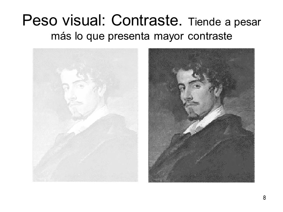 Peso visual: Contraste