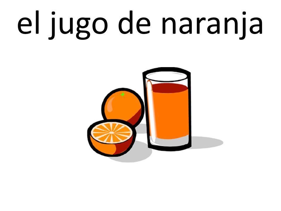 el jugo de naranja