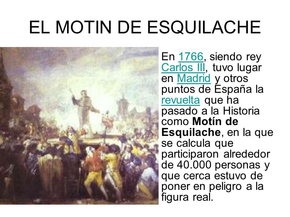 EL MOTIN DE ESQUILACHE