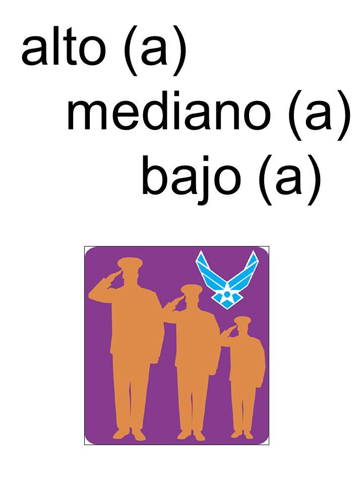 alto (a) mediano (a) bajo (a)