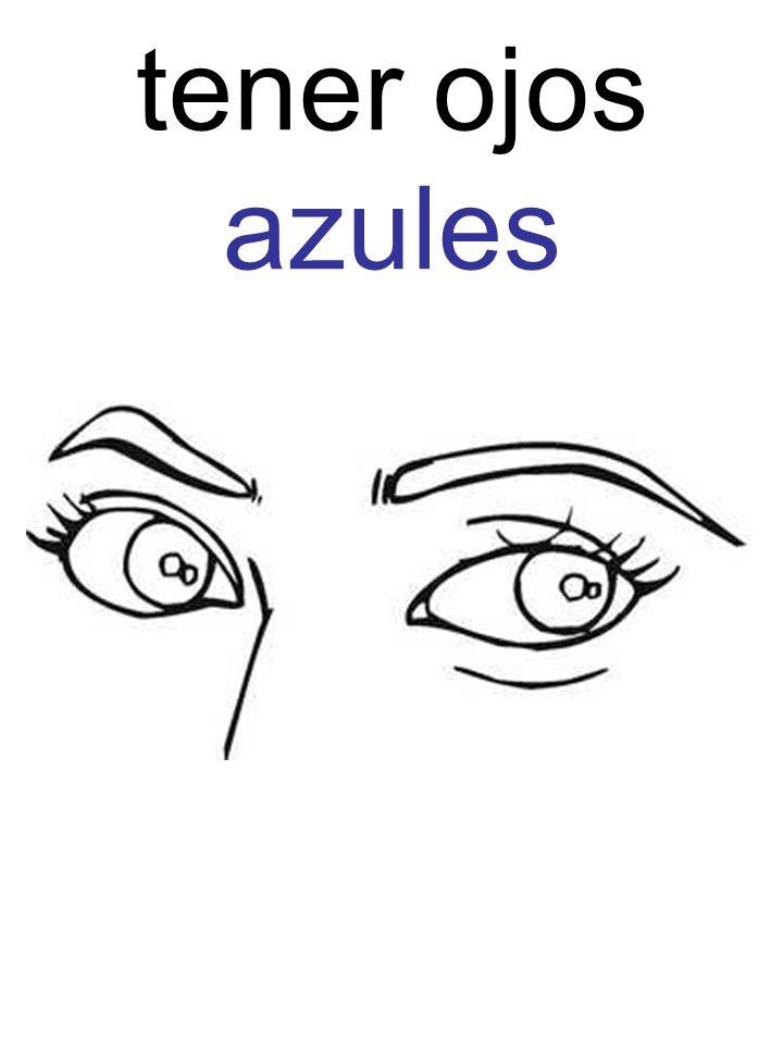 tener ojos azules