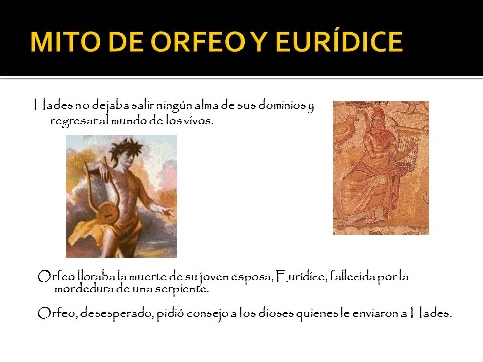MITO DE ORFEO Y EURÍDICE