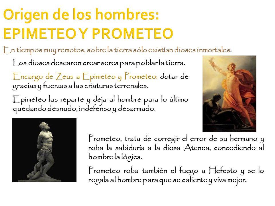Origen de los hombres: EPIMETEO Y PROMETEO