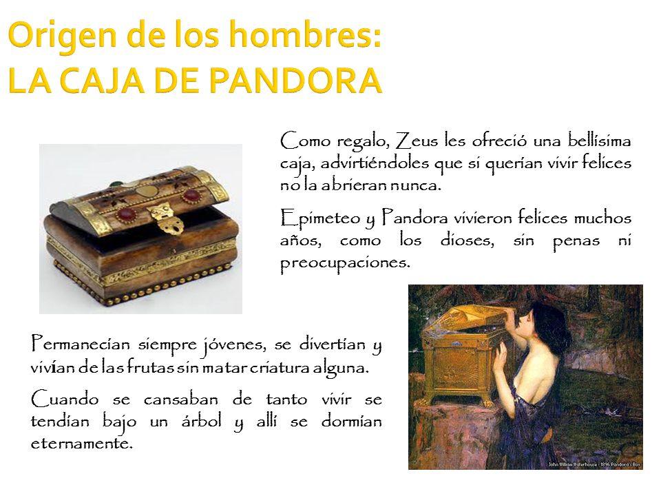 Origen de los hombres: LA CAJA DE PANDORA