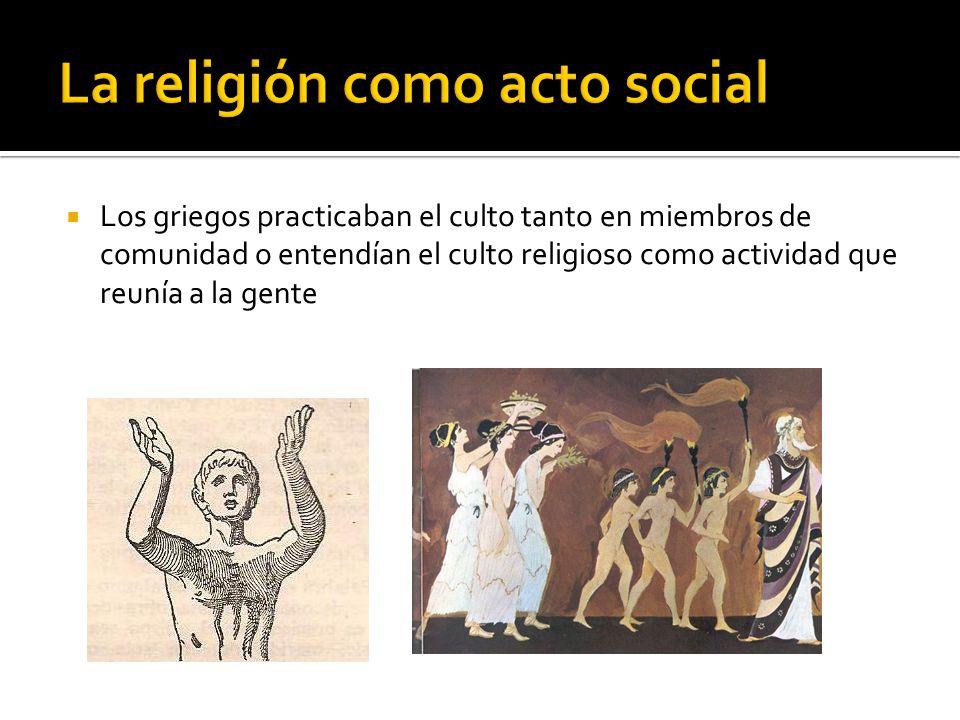 La religión como acto social
