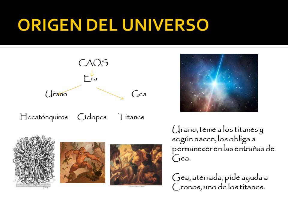 ORIGEN DEL UNIVERSO CAOS