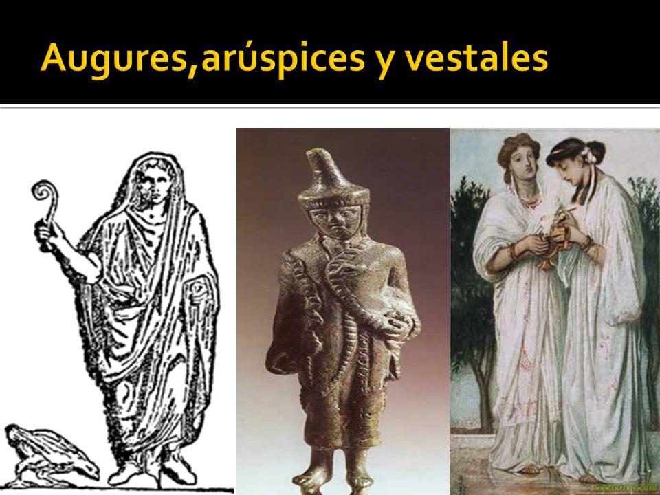 Augures,arúspices y vestales