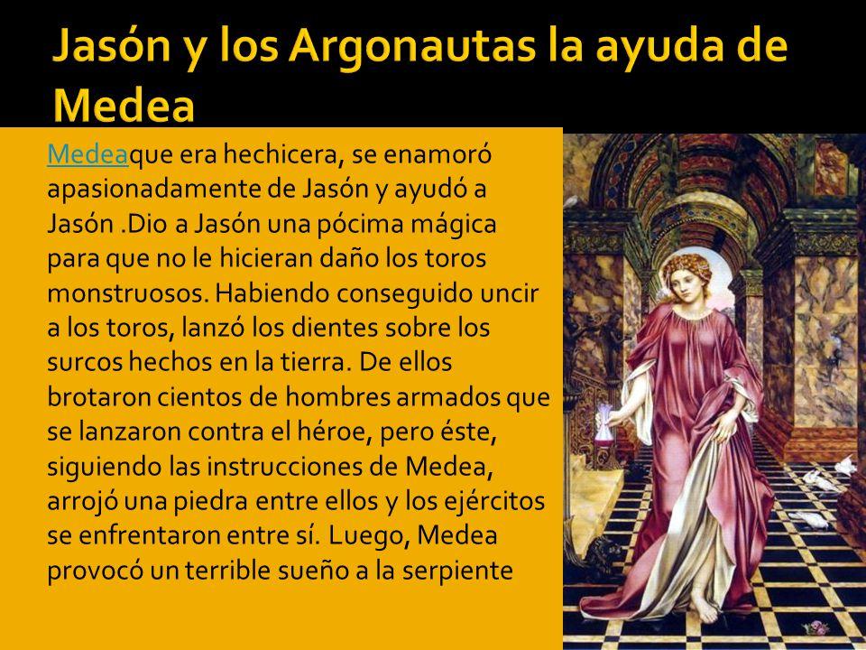 Jasón y los Argonautas la ayuda de Medea