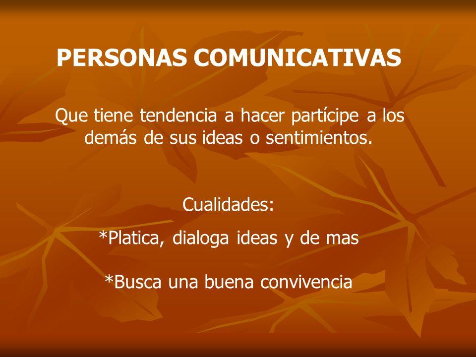 PERSONAS COMUNICATIVAS