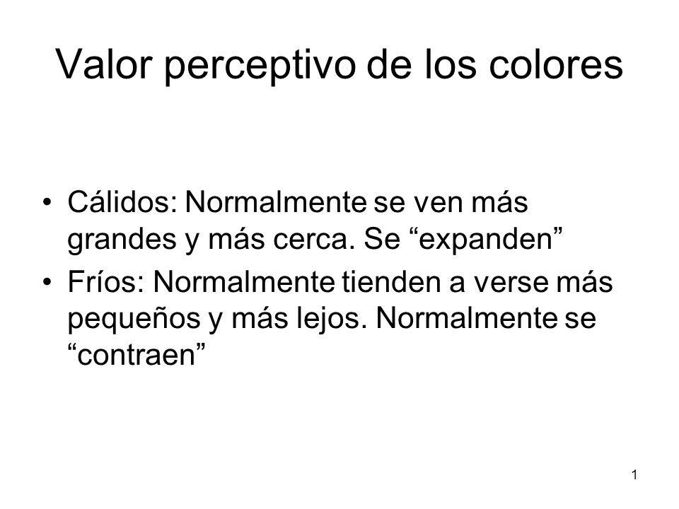 Valor perceptivo de los colores