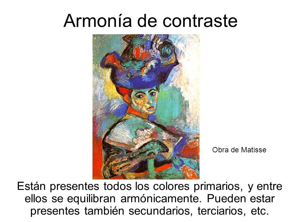Armonía de contraste Obra de Matisse.