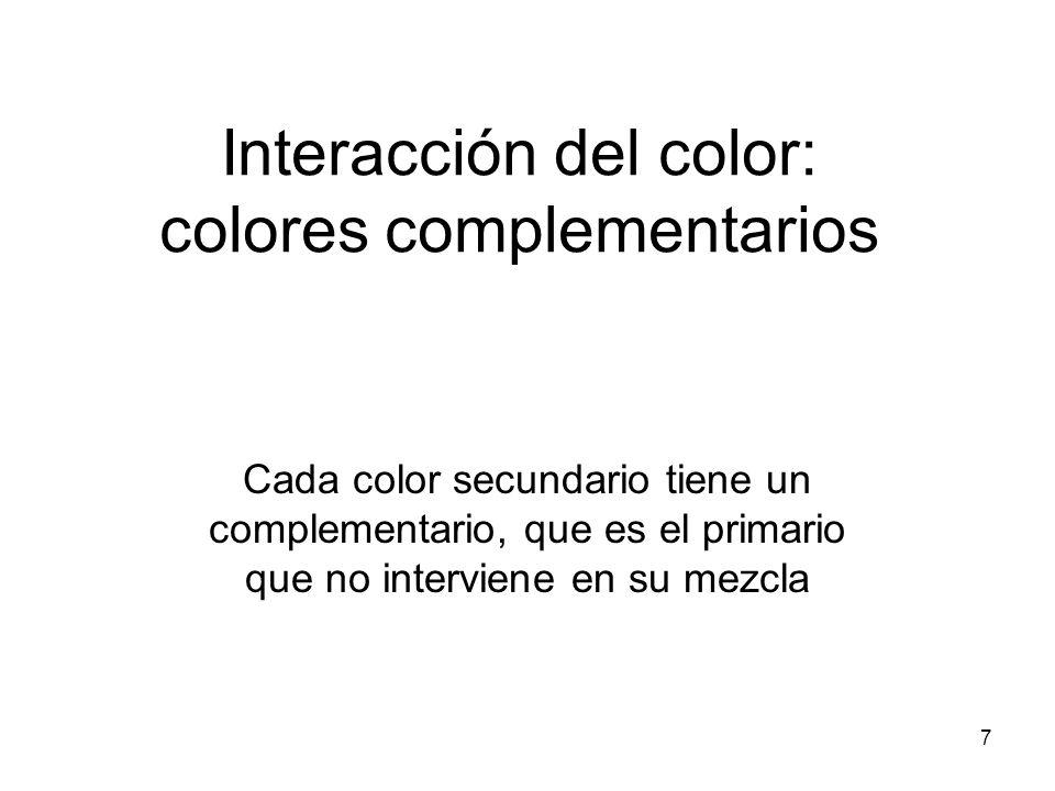 Interacción del color: colores complementarios