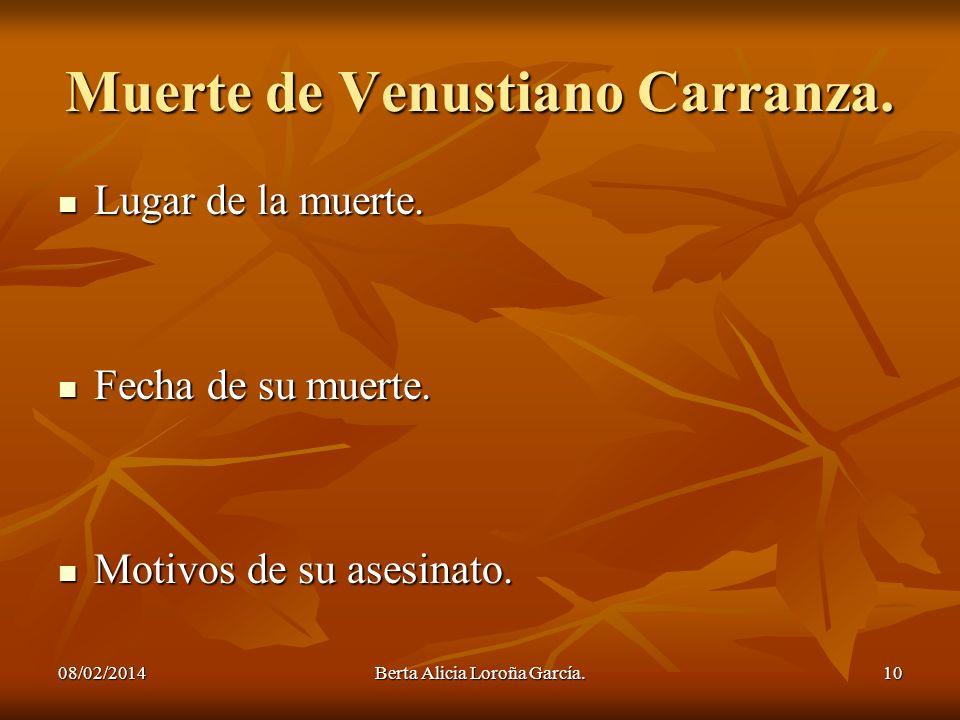 Muerte de Venustiano Carranza.