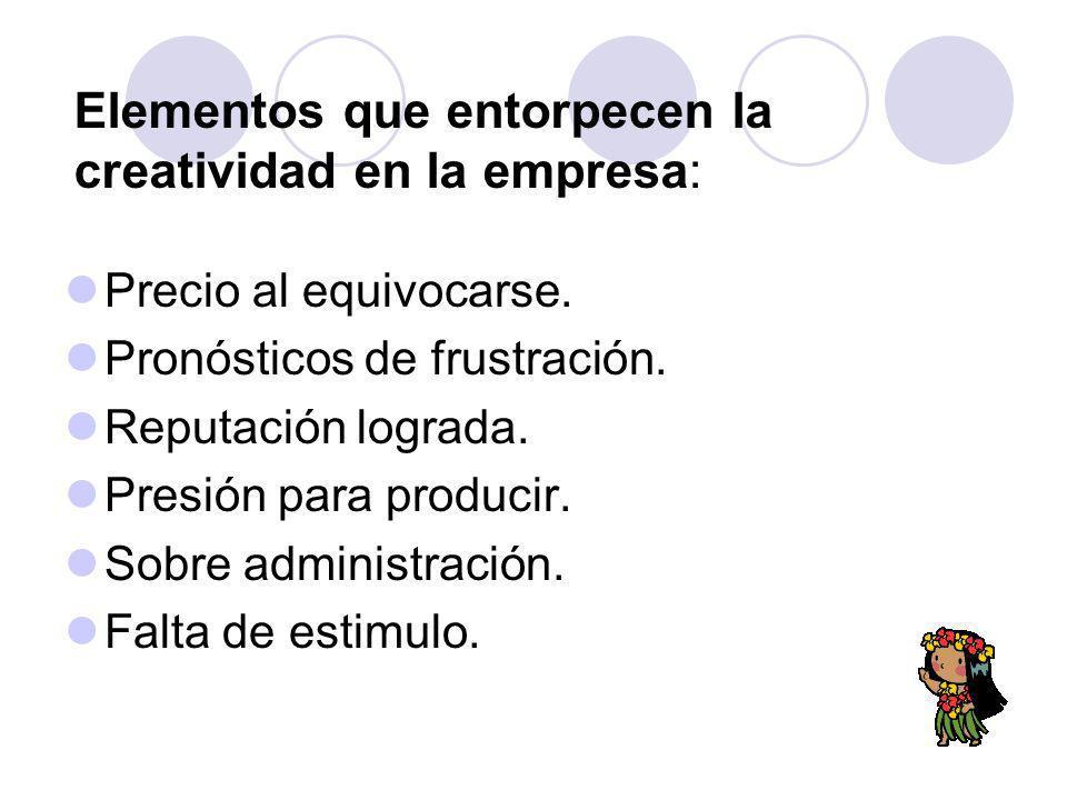 Elementos que entorpecen la creatividad en la empresa: