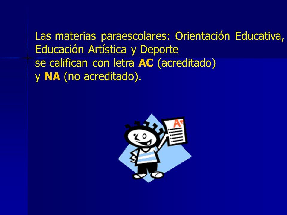 Las materias paraescolares: Orientación Educativa,