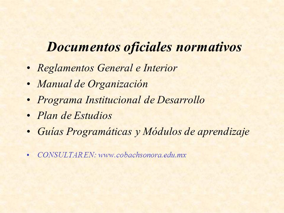 Documentos oficiales normativos