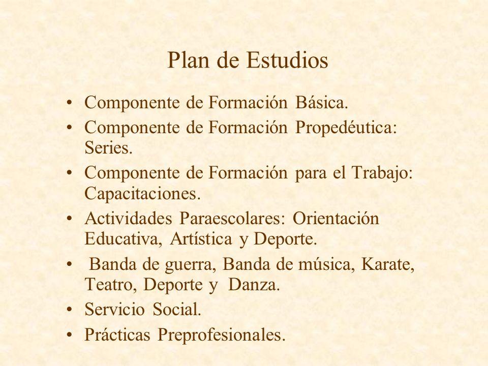 Plan de Estudios Componente de Formación Básica.