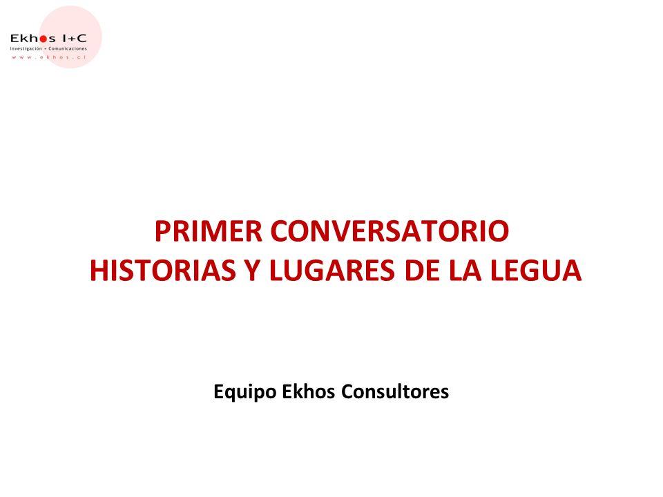 PRIMER CONVERSATORIO HISTORIAS Y LUGARES DE LA LEGUA