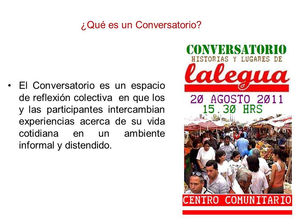 ¿Qué es un Conversatorio