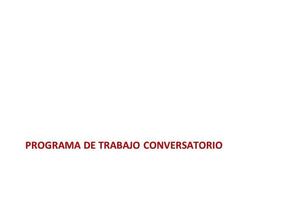 Programa de trabajo conversatorio