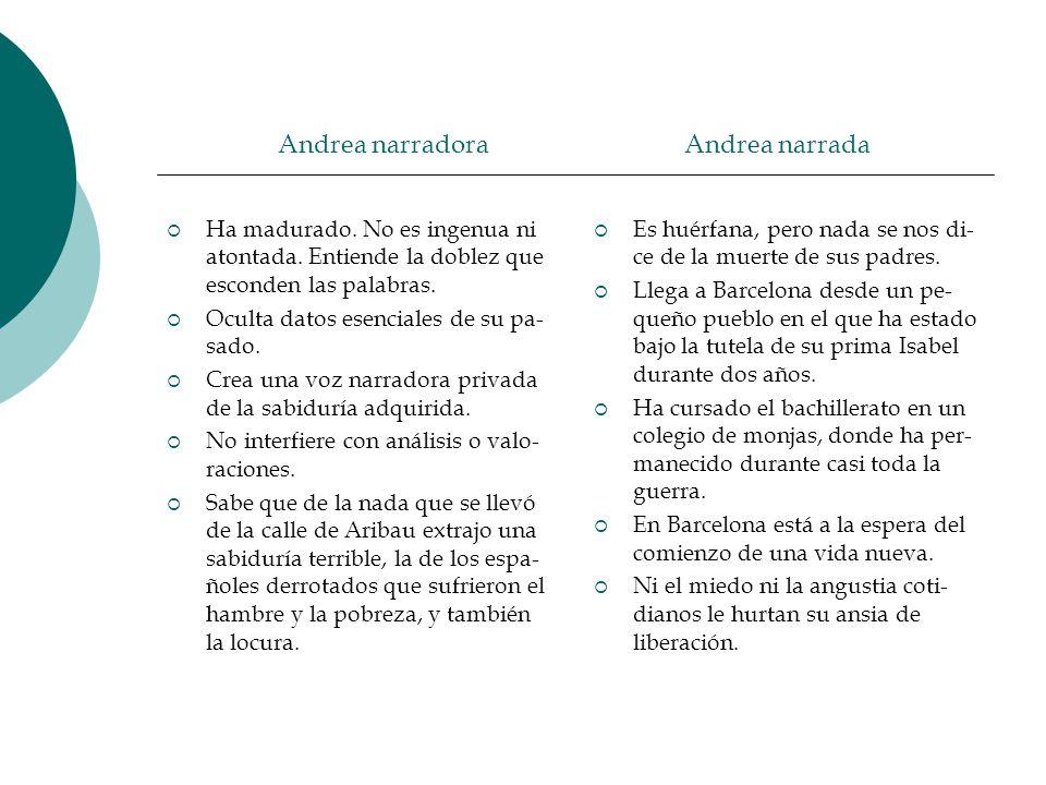 Andrea narradora Andrea narrada