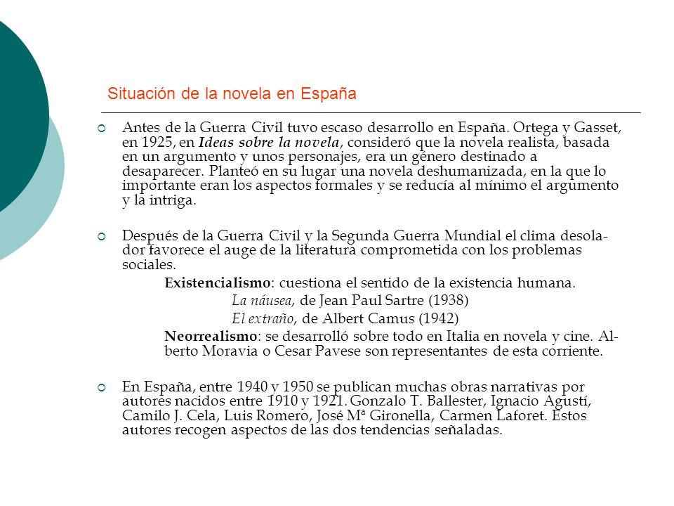 Situación de la novela en España
