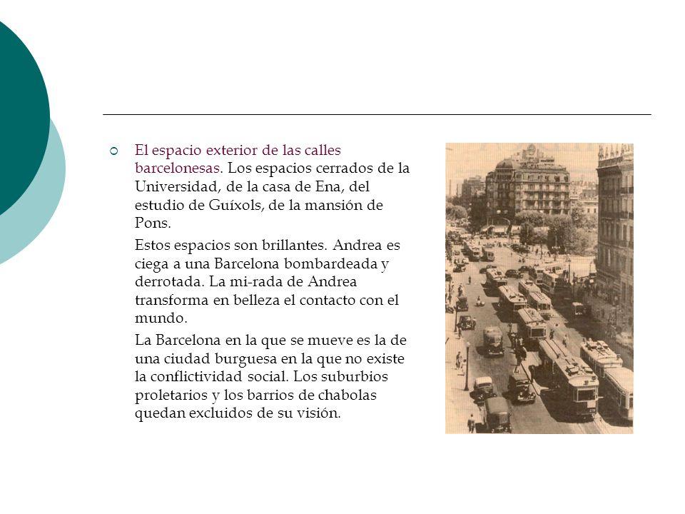 El espacio exterior de las calles barcelonesas