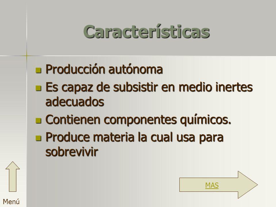 Características Producción autónoma