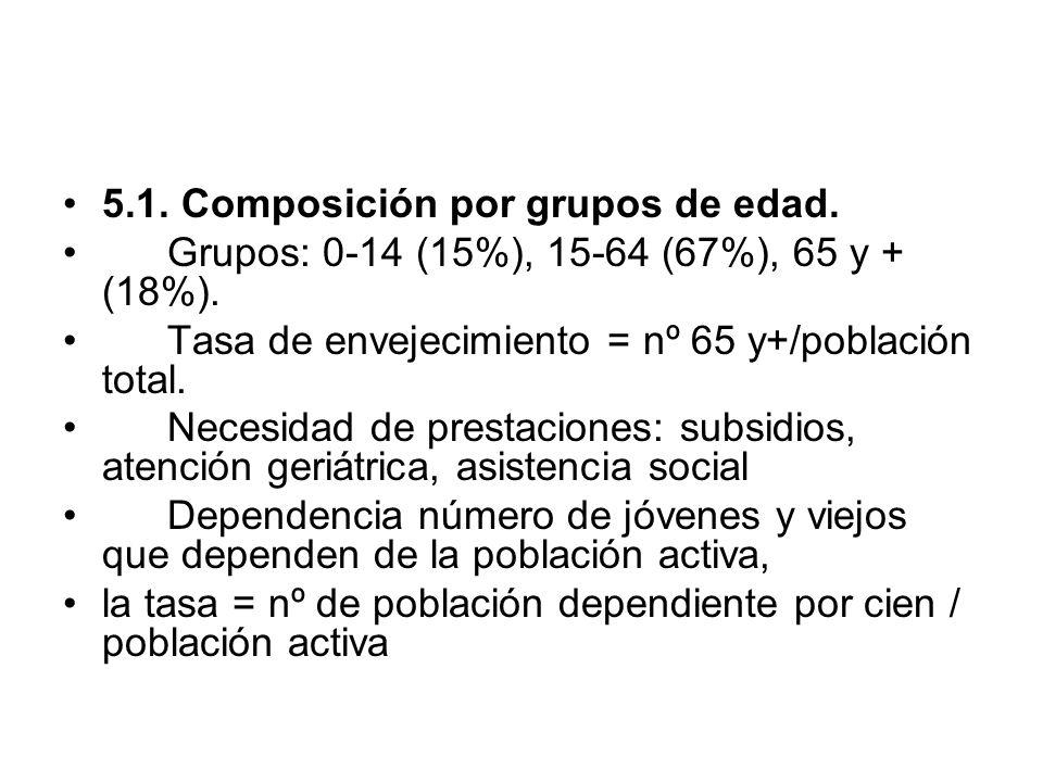 5.1. Composición por grupos de edad.