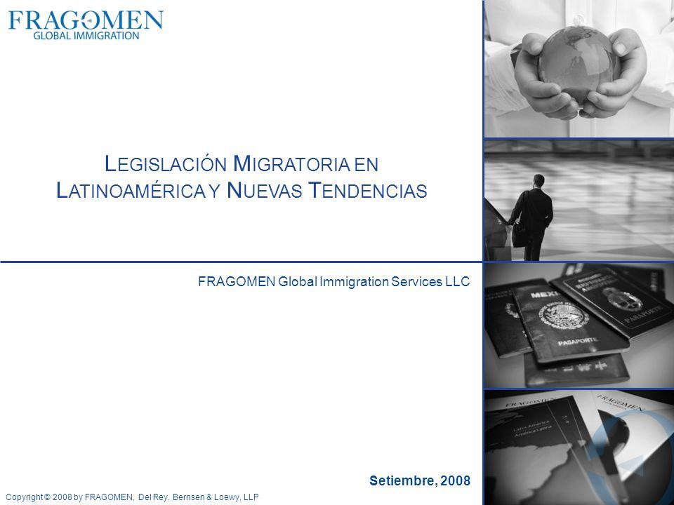 Legislación Migratoria en Latinoamérica y Nuevas Tendencias