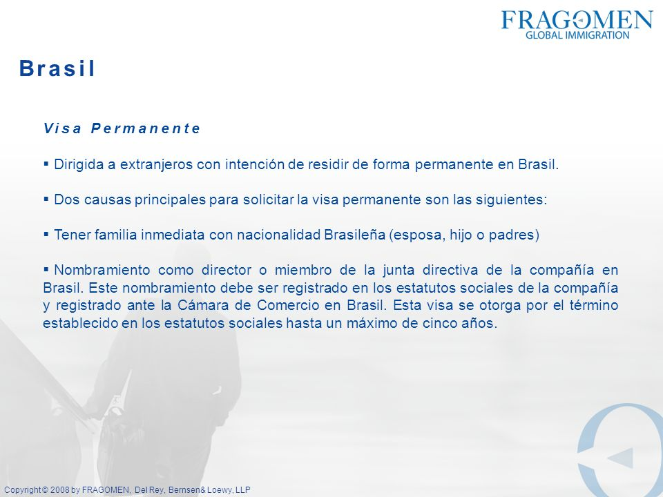 Brasil Visa Permanente