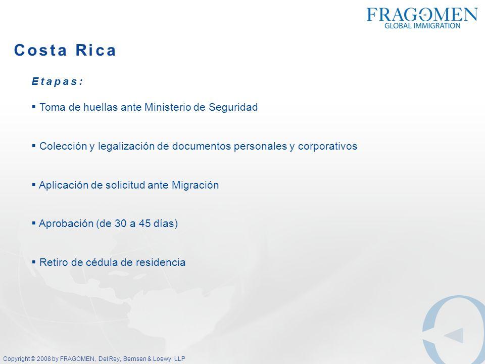 Costa Rica Etapas: Toma de huellas ante Ministerio de Seguridad