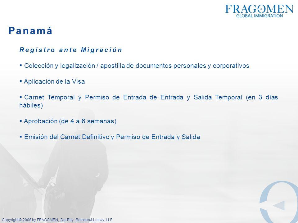 Panamá Registro ante Migración