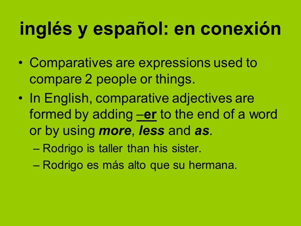 inglés y español: en conexión